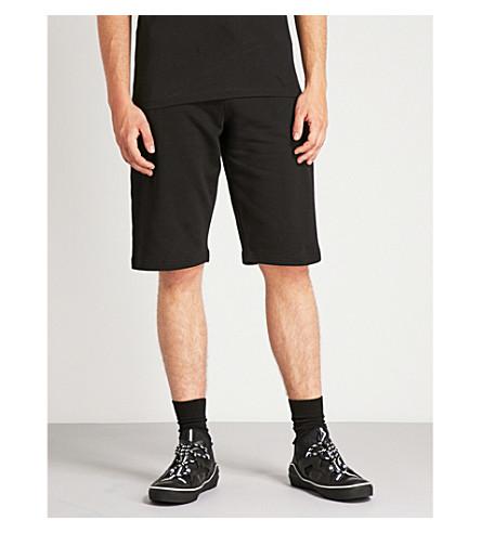 MCQ ALEXANDER MCQUEEN Logo-embroidered cotton-jersey shorts (Darkest+black