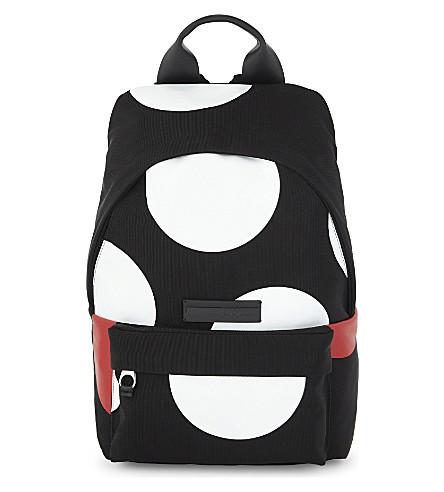 MCQ ALEXANDER MCQUEEN Large dot backpack (Black/white/red