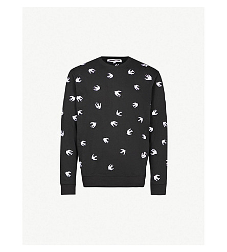 MCQ ALEXANDER MCQUEEN 燕绣平纹针织棉卫衣 (深色 + 黑 + 白)