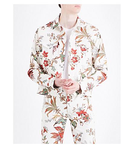 MCQ ALEXANDER MCQUEEN Floral-print stretch-cotton jacket (Parchment