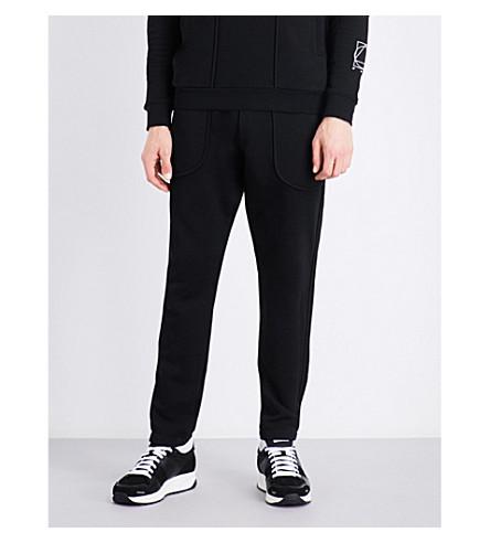 MCQ ALEXANDER MCQUEEN Inside Out cotton jogging bottoms (Darkest+black