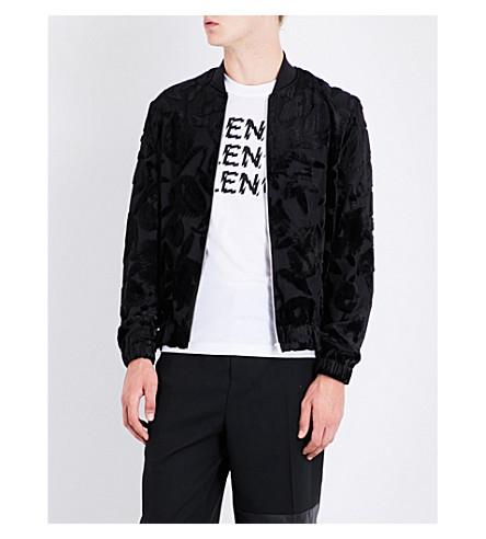 MCQ ALEXANDER MCQUEEN Floral devoré bomber jacket (Darkest+black