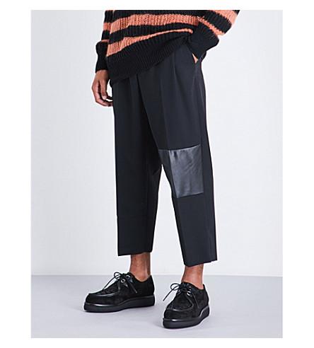 MCQ ALEXANDER MCQUEEN Taigen regular-fit wool trousers (Darkest+black