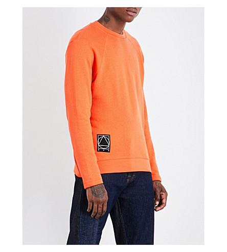 MCQ ALEXANDER MCQUEEN Patch-detail cotton-jersey sweatshirt (Grunge+orange