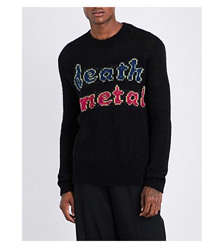 MCQ ALEXANDER MCQUEEN Death Metal mohair-blend jumper (Darkest+black