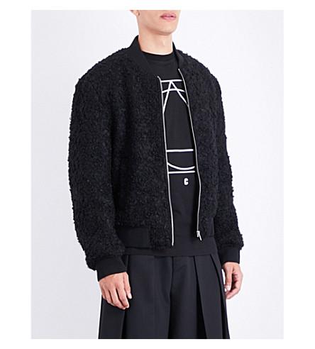 MCQ ALEXANDER MCQUEEN Iggy wool-blend jacket (Darkest+black