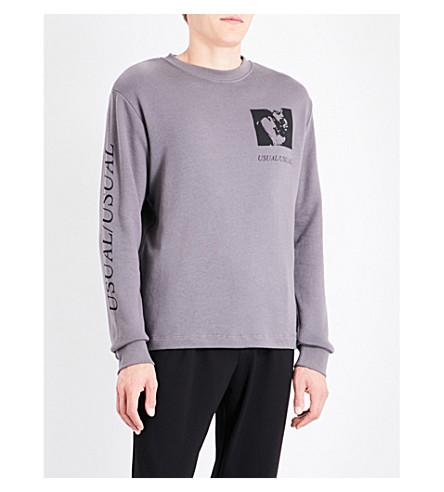 MCQ ALEXANDER MCQUEEN 'Gig Posters' cotton-blend sweatshirt (Iggy+grey