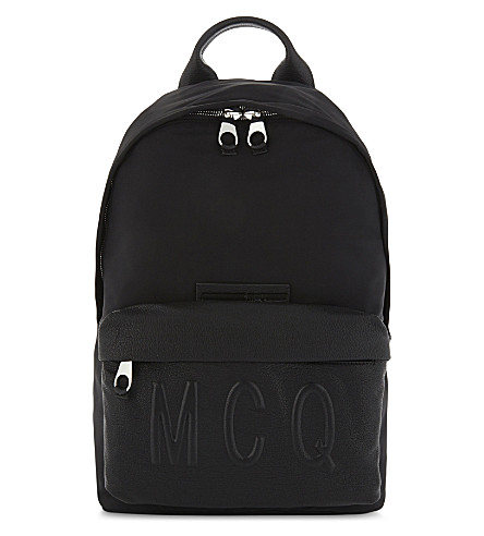 MCQ ALEXANDER MCQUEEN Logo backpack (Darkest+black