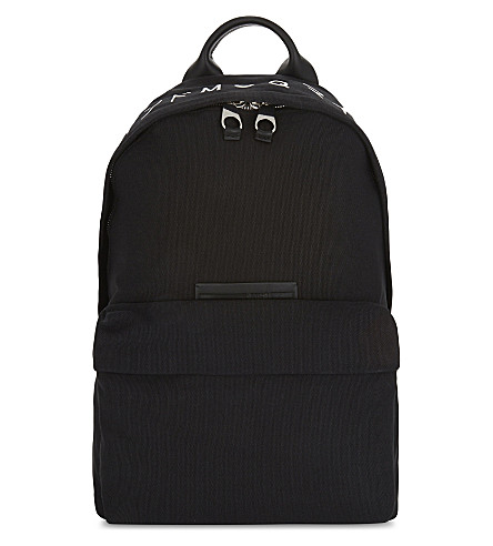 MCQ ALEXANDER MCQUEEN Logo backpack (Black+white