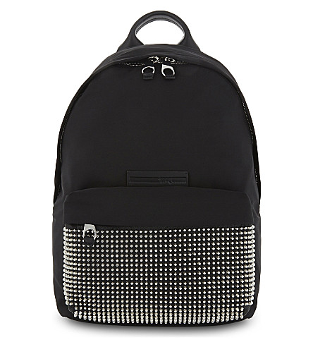 MCQ ALEXANDER MCQUEEN Studded backpack (Darkest+black