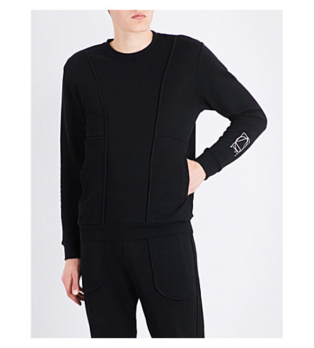 MCQ ALEXANDER MCQUEEN Inside Out cotton-jersey sweatshirt (Darkest+black