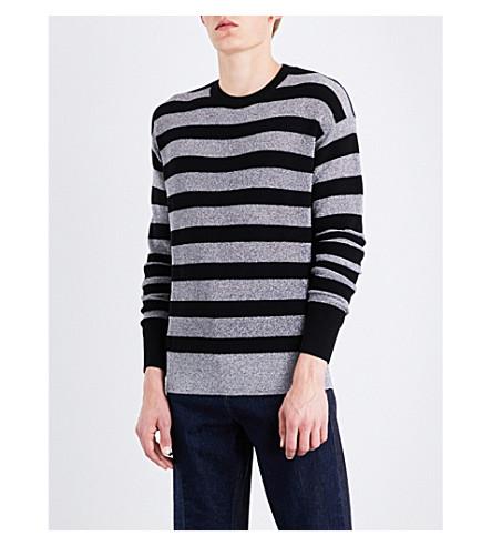 MCQ ALEXANDER MCQUEEN Metallic striped wool-blend jumper (Multi+lurex