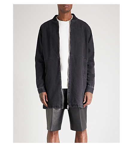 MCQ ALEXANDER MCQUEEN Curtis denim bomber jacket (Grey+melange