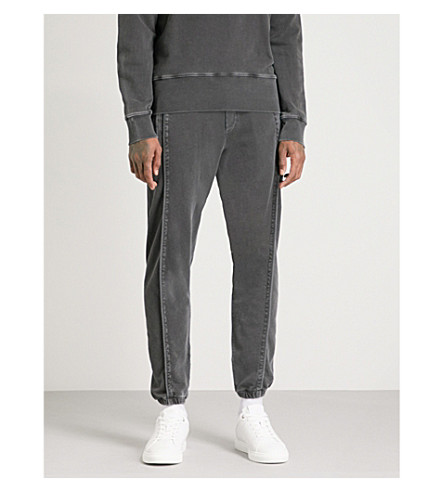 MCQ ALEXANDER MCQUEEN Skinny cotton-jersey jogging bottoms (Darkest+black