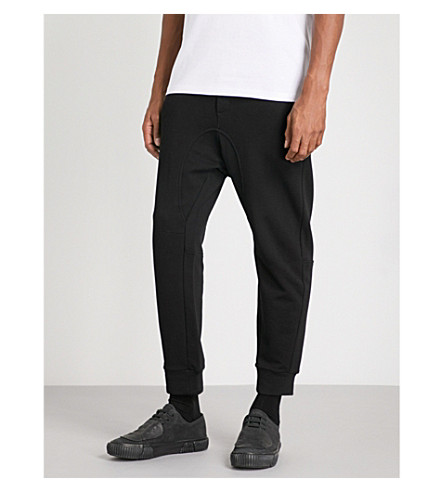 MCQ ALEXANDER MCQUEEN Embellished slim-fit tapered cotton-jersey jogging bottoms (Black