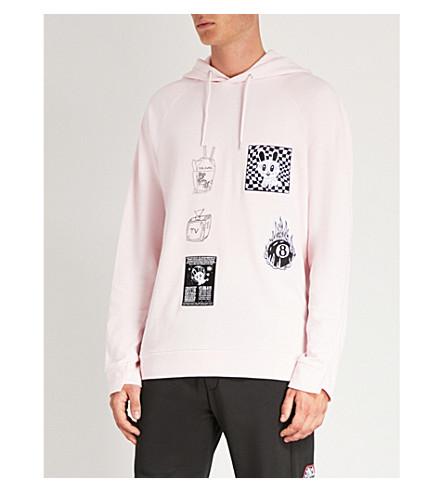 MCQ Post pink con capucha Badge Sudadera it MCQUEEN algodón de trenzado ALEXANDER RAgnRTxH