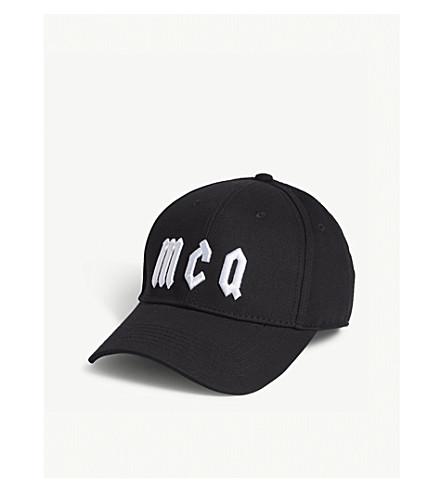 MCQ ALEXANDER MCQUEEN Logo cotton baseball cap (Black+white