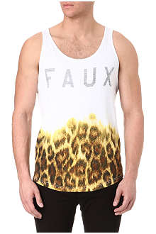 FRIEND OR FAUX Graded leopard-print vest
