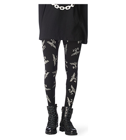 BOY LONDON Eagle repeat leggings (Black