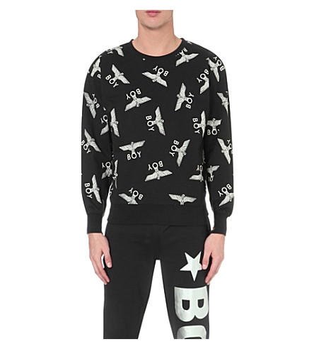 BOY LONDON Eagle repeat sweatshirt (Black