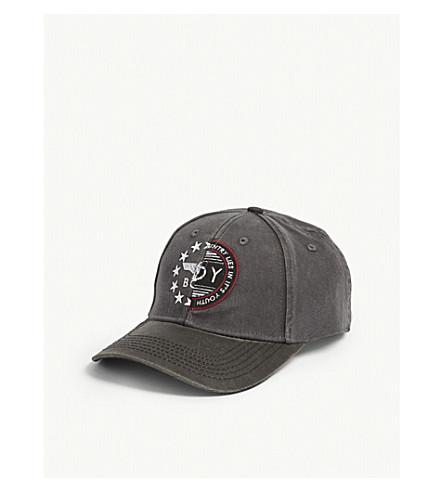 BOY LONDON 2 Face cotton snapback cap (Grey+black