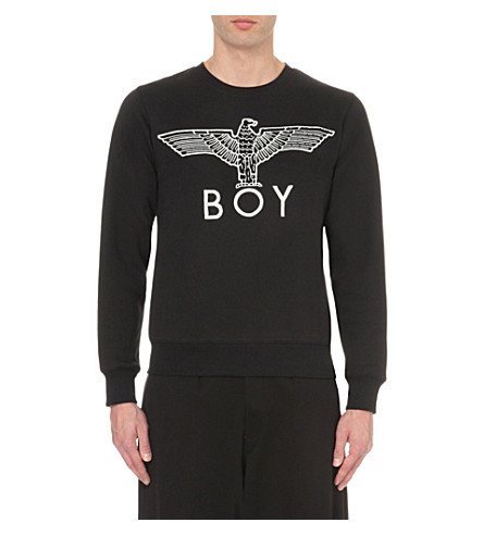 BOY LONDON Eagle logo cotton-jersey sweatshirt (Black