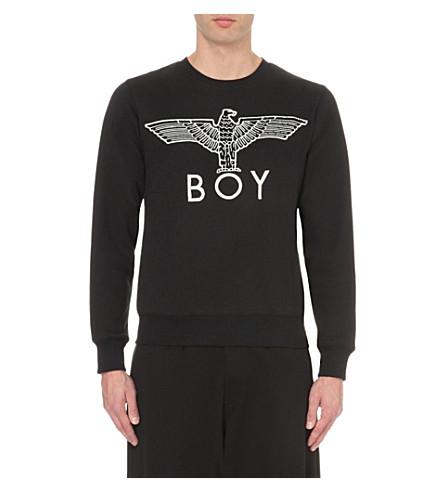 BOY LONDON 鹰图案棉衫衫 (黑色