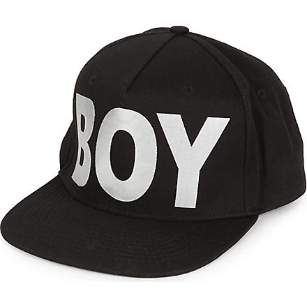 BOY LONDON Metallic BOY snapback cap (Black/silver