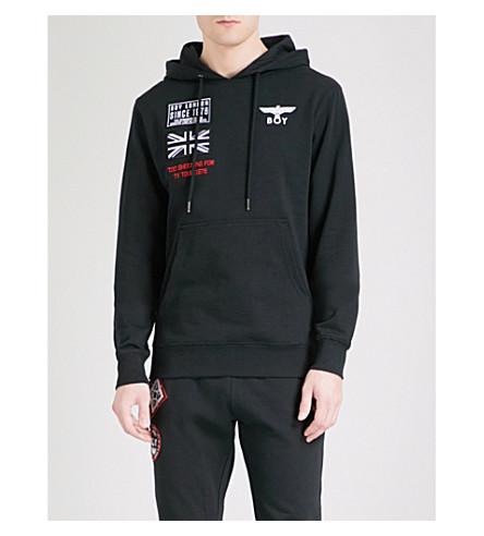 BOY LONDON Concert cotton-jersey hoody (Black