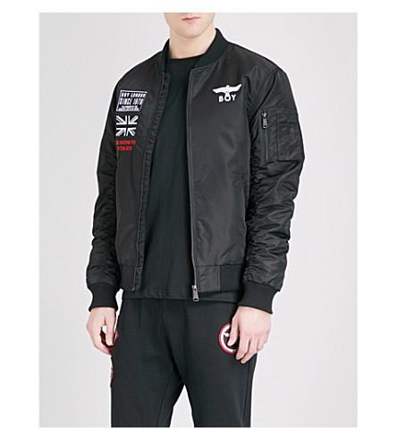 BOY LONDON 演唱会炮弹轰炸机软壳面料夹克 (黑色