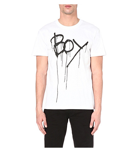 BOY LONDON Drip print t-shirt (Black/white