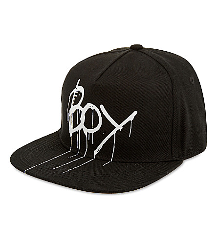 BOY LONDON Drip logo snapback (Black