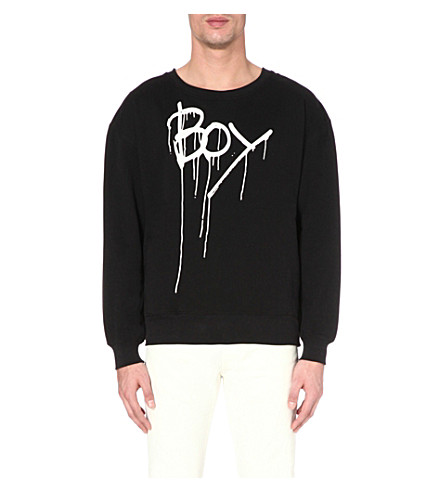 BOY LONDON Drip print sweatshirt (Black/white