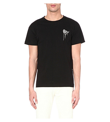 BOY LONDON Drip logo t-shirt (White/black