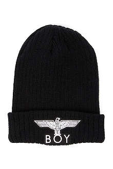 BOY LONDON Boy Eagle appliqué beanie hat