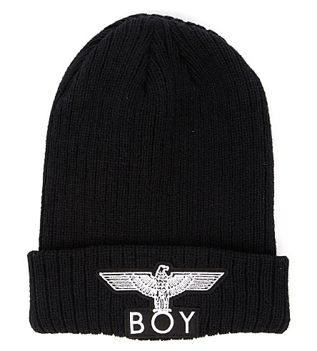 BOY LONDON Boy Eagle appliqué beanie hat (Black