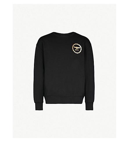 BOY LONDON Eagle-print cotton-jersey sweatshirt (Black/gold