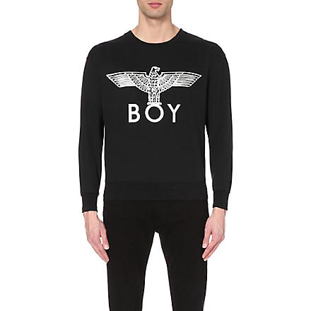 BOY LONDON Metallic Eagle sweatshirt (Black/silver