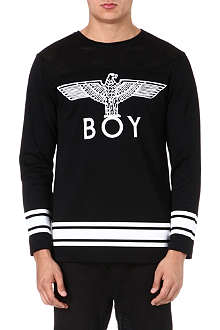 BOY LONDON Eagle print long-sleeve top
