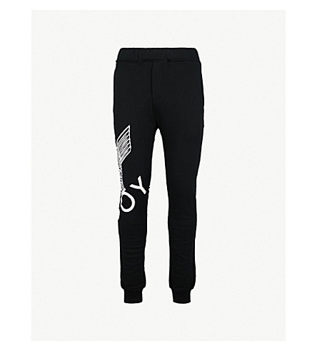 BOY LONDON Eagle print cotton-jersey jogging bottoms (Black