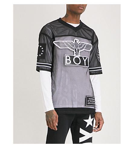 BOY LONDON Eagle mesh top (Black