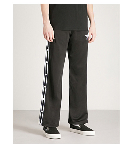BOY LONDON Popper-fastened jersey jogging bottoms (Black