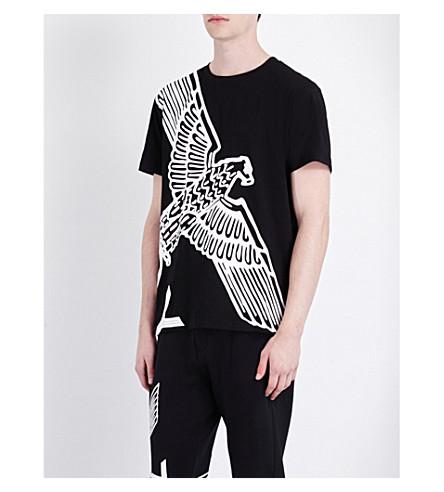 BOY LONDON 鹰印花棉衫 t恤衫 (黑色 + 白色