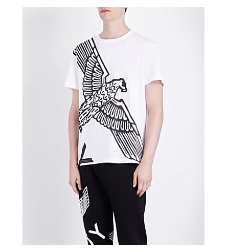 BOY LONDON Eagle-print cotton-jersey T-shirt (White+black