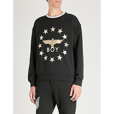 BOY LONDON Globe Star Eagle sweatshirt (Black/gold