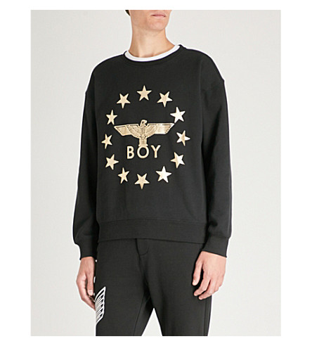 BOY LONDON Globe Star Eagle sweatshirt (Black/gold