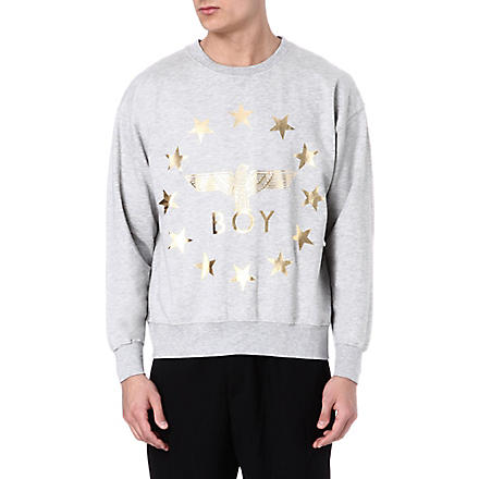 BOY LONDON Globe Star Eagle sweatshirt (Grey/gold