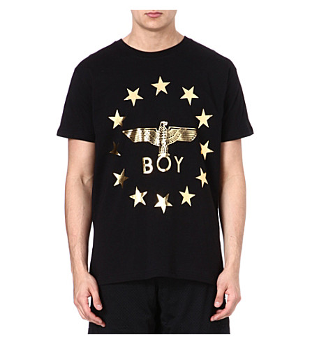 BOY LONDON Star-detailed logo t-shirt (Black/gold