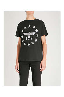 BOY LONDON Star-detailed logo t-shirt