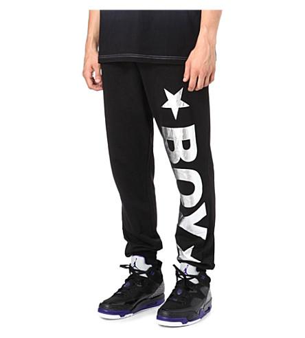 BOY LONDON Jogging bottoms with silver logo (Black